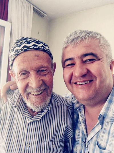 I and my uncle. uncle 95 years old Denizli Acıpayam