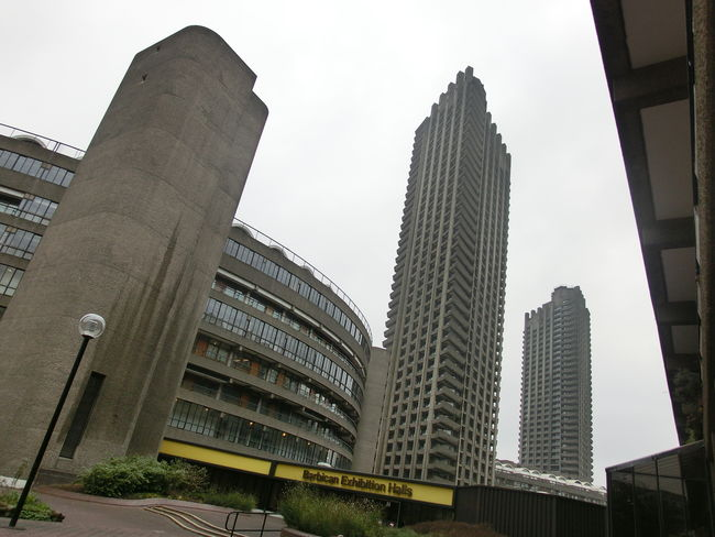 Barbican Building Buildings Illusion London Low Angle Perspective