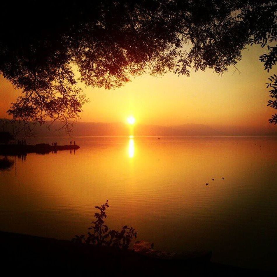 Iznik Iznikgolu Izniklake Turkey sunset tree lake