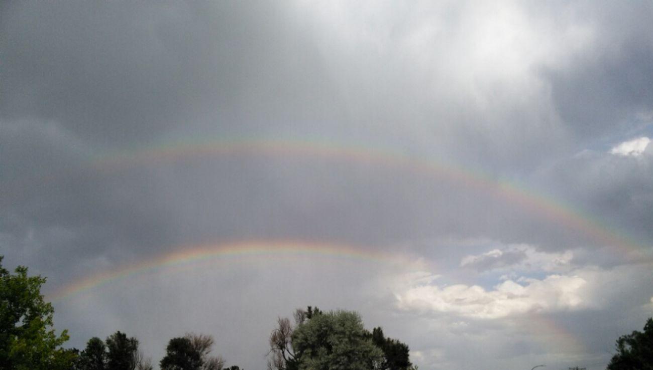 Gods Glory Skyview Colors Of Nature Skylove Clouds Creation Somewhere Over The Rainbow Rainbows Cloudscape Godsbeauty Double Rainbows