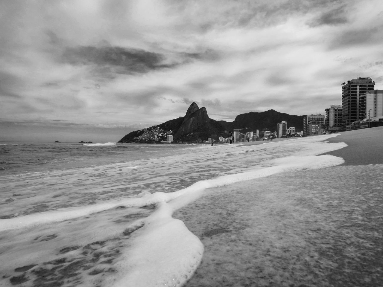 The beauty of Rio Beach Beauty In Nature Cloud - Sky Coastline Day Horizon Over Water Ipanema Beach Nature No People Outdoors Rio De Janeiro Sand Sea Shore Sky Water Wave