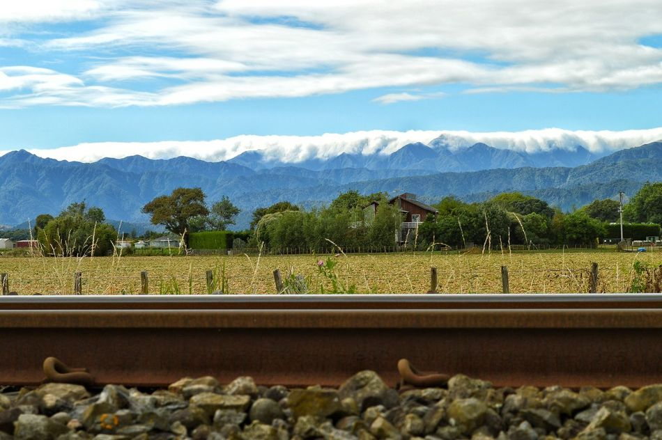 the spine of the North Island N.Z. . . . . not the railway line. . . the mountain ranges. The Tararua range from Levin with it's typical cloud over the peaks 😍☁🙋👍🐝👼 From My Point Of View Malephotographerofthemonth Showcase March Mountain View Railway Track Mountain Range Mountains And Sky Landscape Landscape_photography New Zealand Scenery Levin EyeEm Best Shots EyeEm Masterclass Tadaa Community EyeEm Nature Lover My Hometown Eye4photography  Getting Inspired Kiwi Clicker Nature EyeEm Best Edits Lookingup Rural Scene Sky And Clouds Check This Out