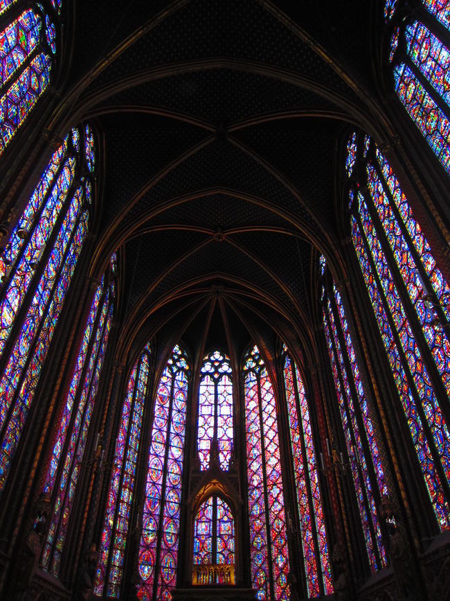 Sainte Chapelle Sainte Chapelle Arch Church Historical Building Religion Religious Architecture Stained Glass Window Stained Glass Windows EyeEmNewHere Stained Glass Chapel Arched Roof Paris Neon Life