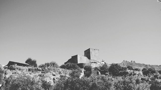 The Old Castle Walls Rural Scene Fresh On Eyeem  Black And White Black & White Portugal_em_fotos Outdoors No People Rural Exploration Rural Scenes Portugal