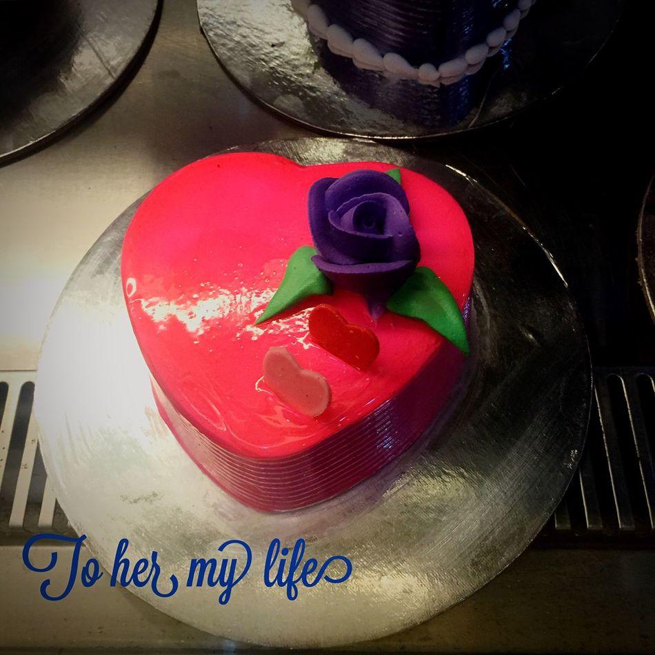 To her my heart my life but I am eating it alone Enjoying Life Cake Valentine Love Happy Fun Chennai India Sweet Heart