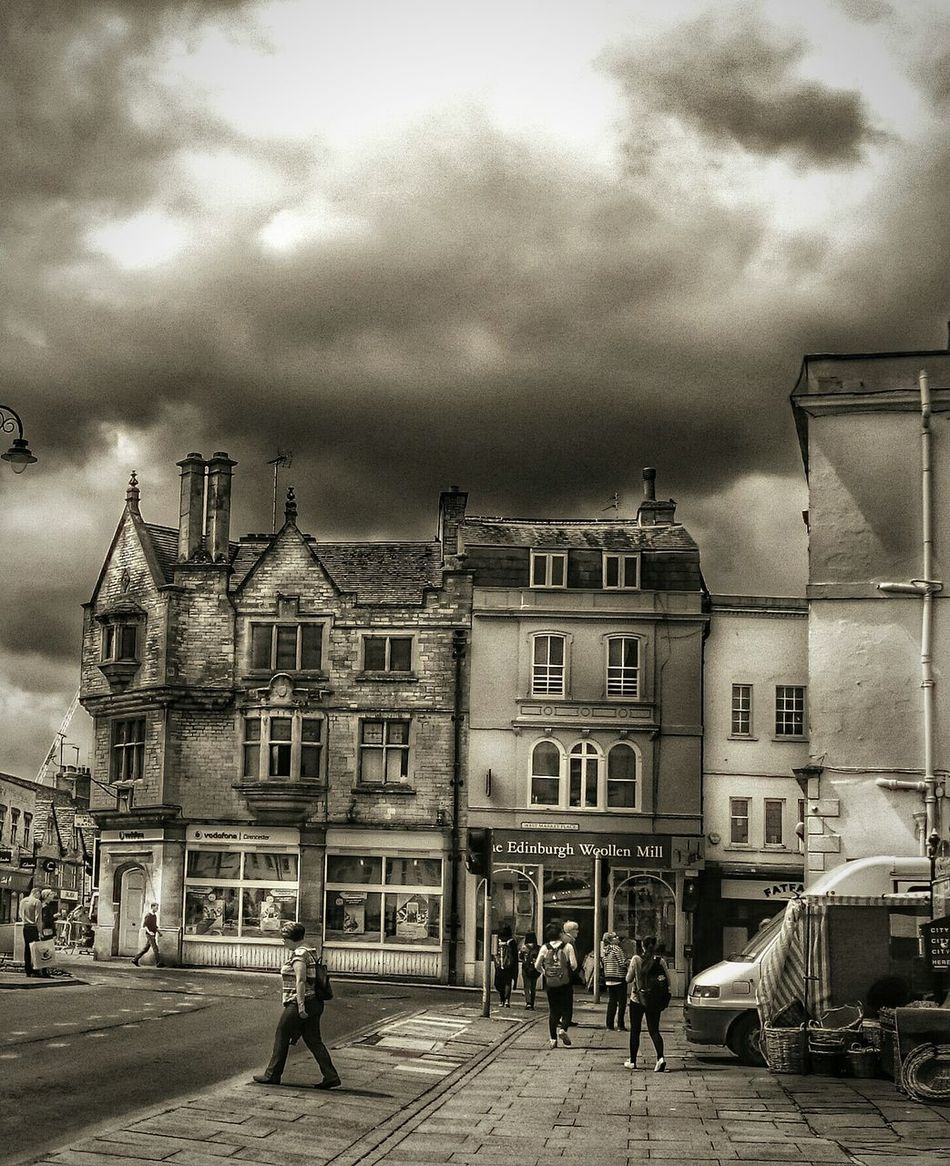 Black & White Streetphoto_bw Streetphotography Cirencester People Old Buildings TOWNSCAPE Eeyemgallery Street Photography Black And White Collection  Stormy Skies Greysky