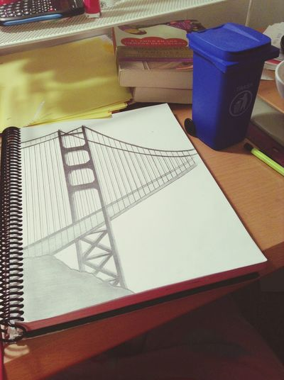 Drawing Beautiful Bridge San Francisco <3