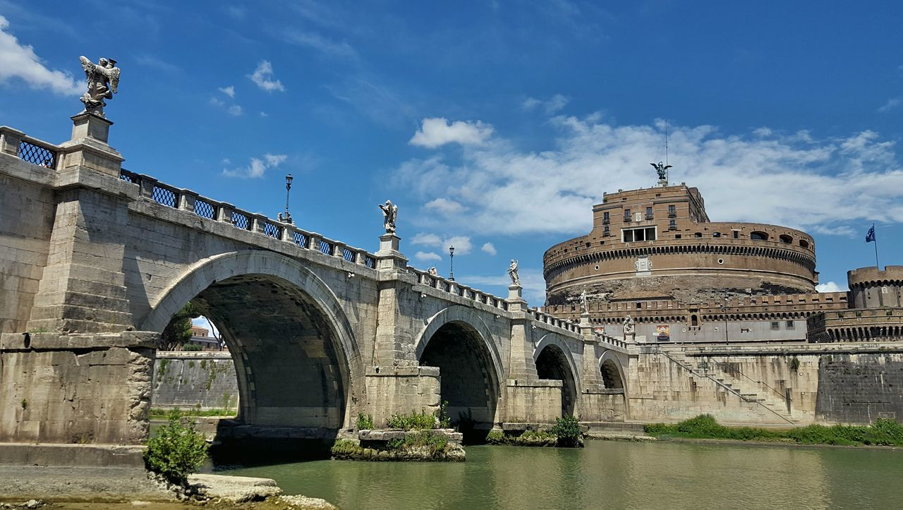 Castel Sant'Angelo, Rome Italy Italia Rome Roma Typical Ancient Civilization History Historic Places Castel Sant'Angelo Arch Architecture Built Structure Cloud - Sky Day Sky Outdoors Travel Destinations Building Exterior No People City Neighborhood Map