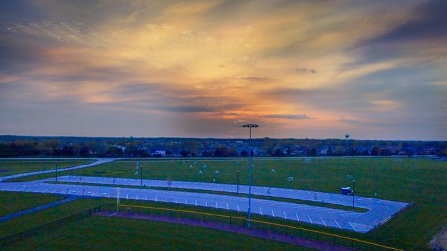Prarie Park, Oswego, Illinois, USA Sky_collection Sky And Clouds Park Parking Lot Soccer Field Neighborhood Geass Panoramic Photography Panaroma