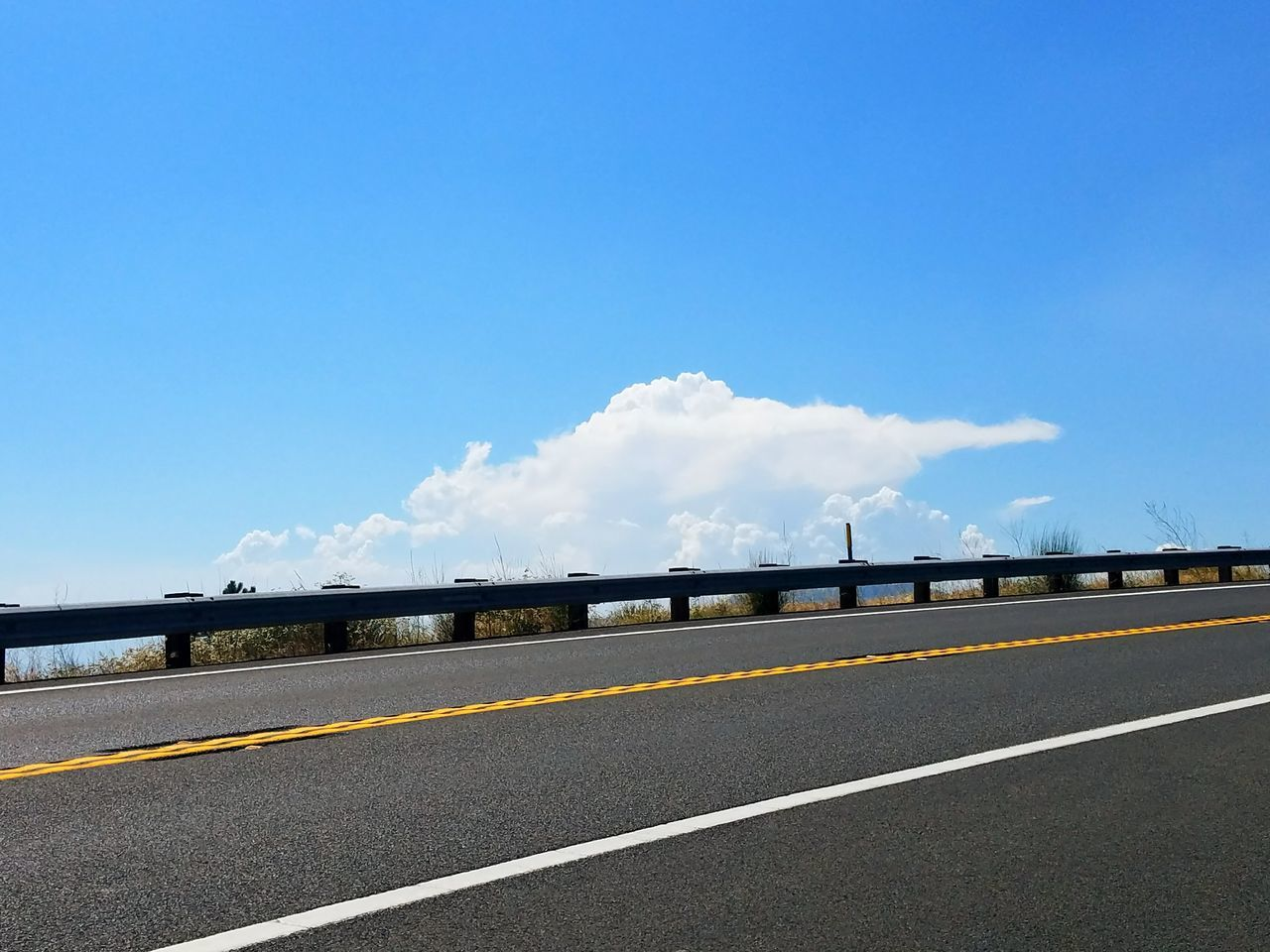 road, transportation, the way forward, day, sky, blue, asphalt, outdoors, dividing line, no people