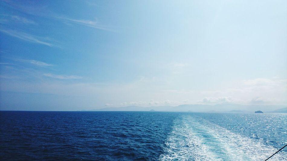 EyeEmNewHere Sea And Sky Sky Sea Horizon Over Water Nature Vacations Ferry Path Samui Island Thailand