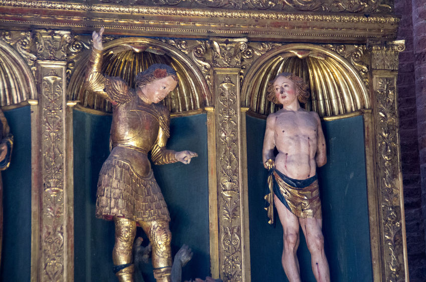 Ancient Civilization Architecture Church Church Of The Brothers Europe Gold Colored History Human Representation Icon Indoors  Italy Male Likeness No People Ornate Place Of Worship Religion Renaisa Saints Santa Maria Gloriosa Dei Frari Sculpture Statue Venice Venice, Italy