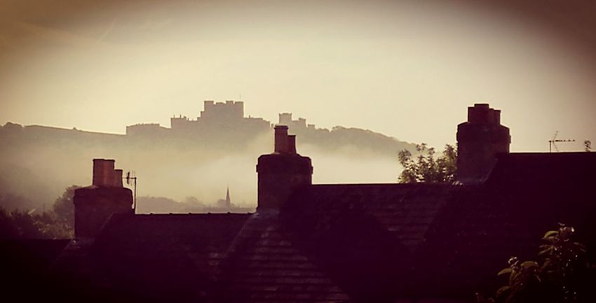 Dover Castle in the morning mist No People Castle Mist Misty Misty Morning Dover England Dovercastle Blackandwhite Photography