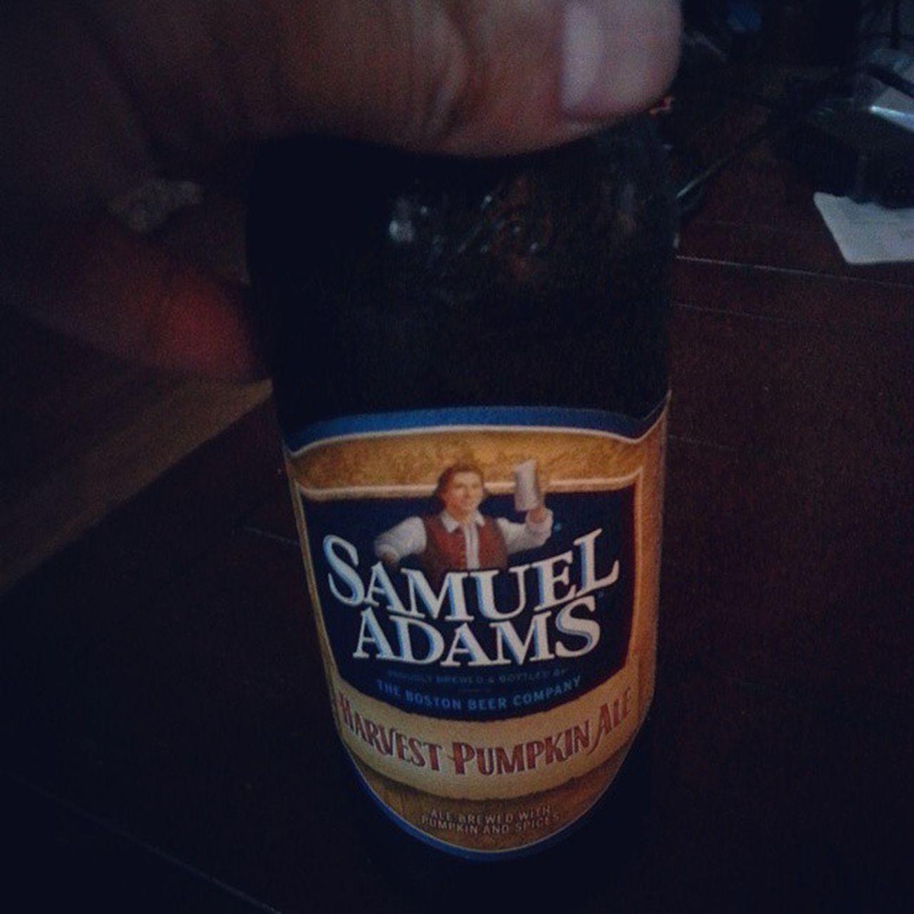 Here goes nothing! Samueladams Lager Beer Pumpkinale