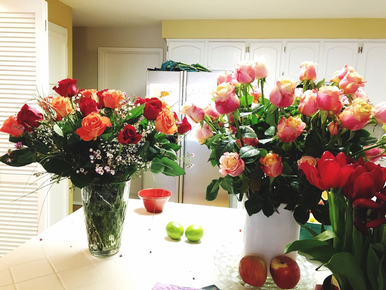 Flowers In My Kitchen Valentine's Day  Roses🌹 Bouquets