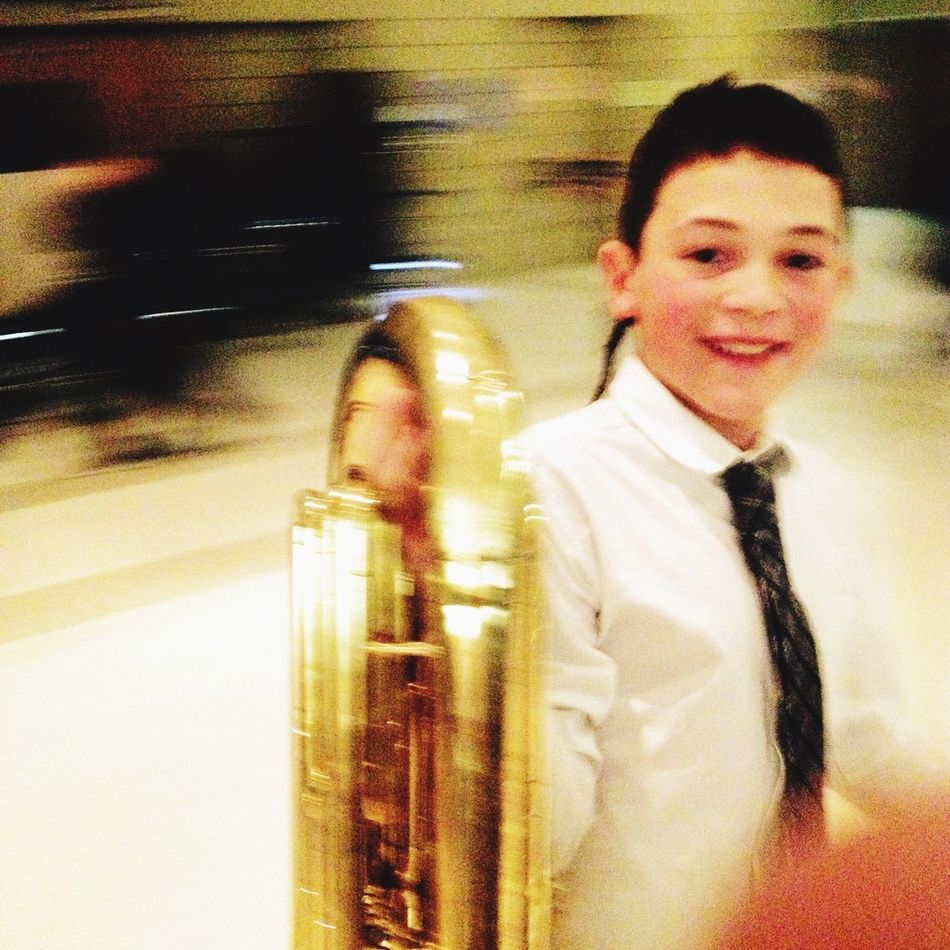 Concert Tuba Boy Band Blurred Motion Focal Point Blurred Background
