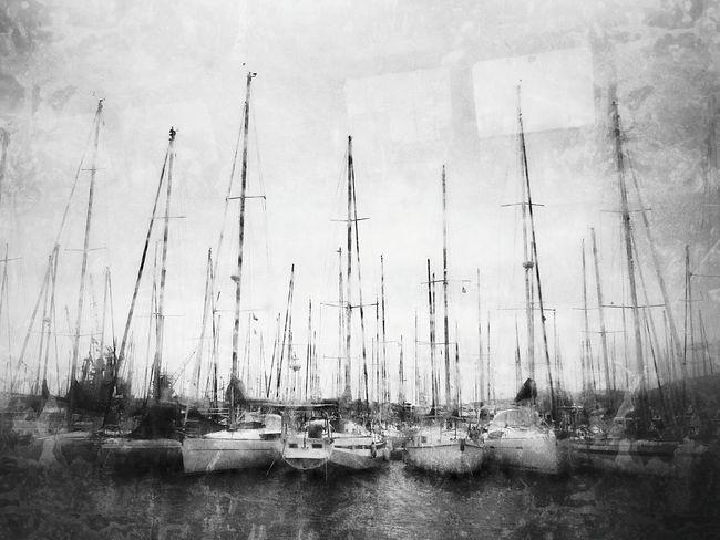 Black And White Photography Toulon Var Voiles Et Voiliers Sailing Boat Dans le port de Toulon, y'a des....