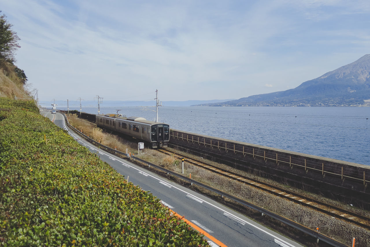 Beauty In Nature Canon Day Greenery Japan Kagoshima Airport Mountain No People Outdoors Peace Scenics Sea Sky The Way Forward Tourism Train Tranquility Transportation Travel Destinations Winter