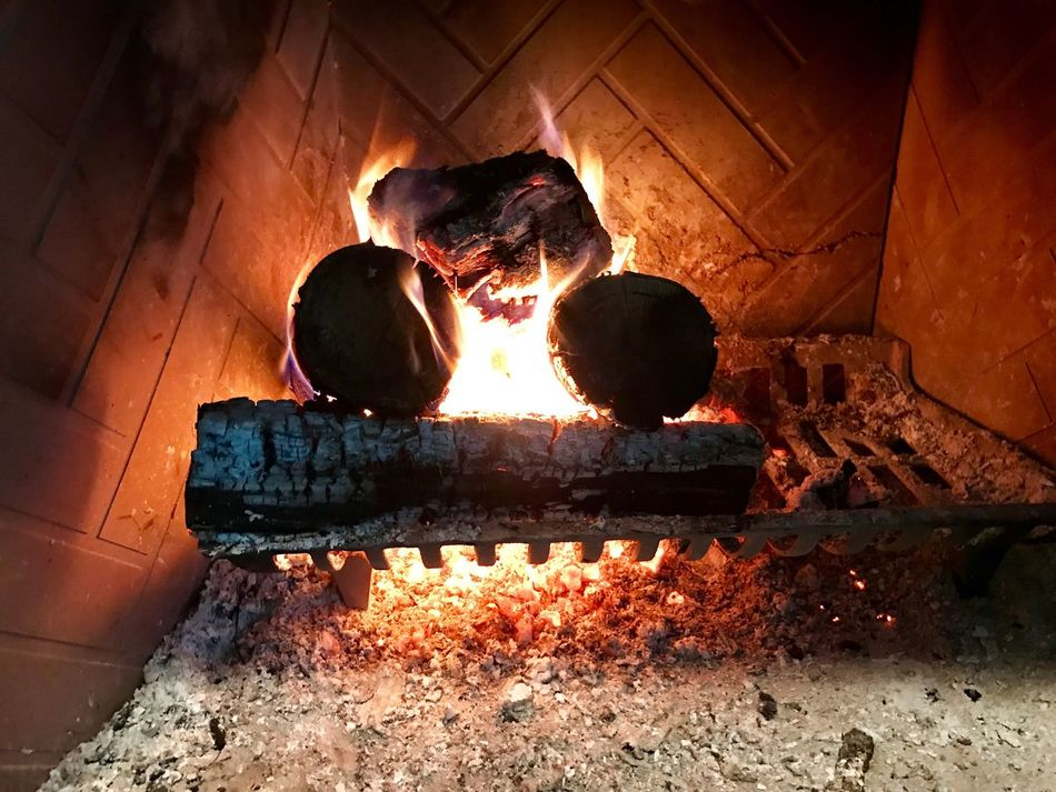 Thanksgiving Fireplace Heat - Temperature Flame Burning Wood - Material No People Outdoors Day