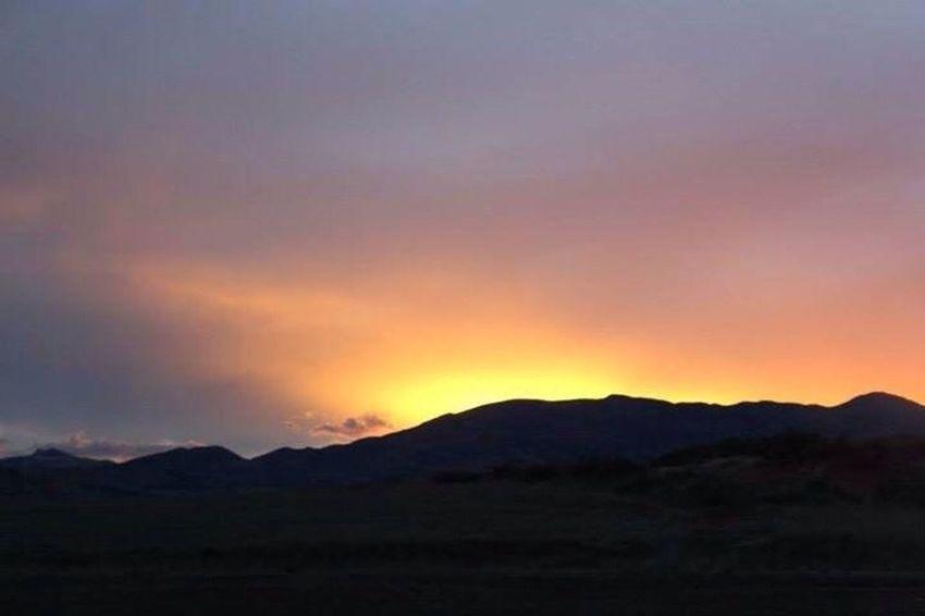Sunset... Enjoying Life On The Road Nature Sunset