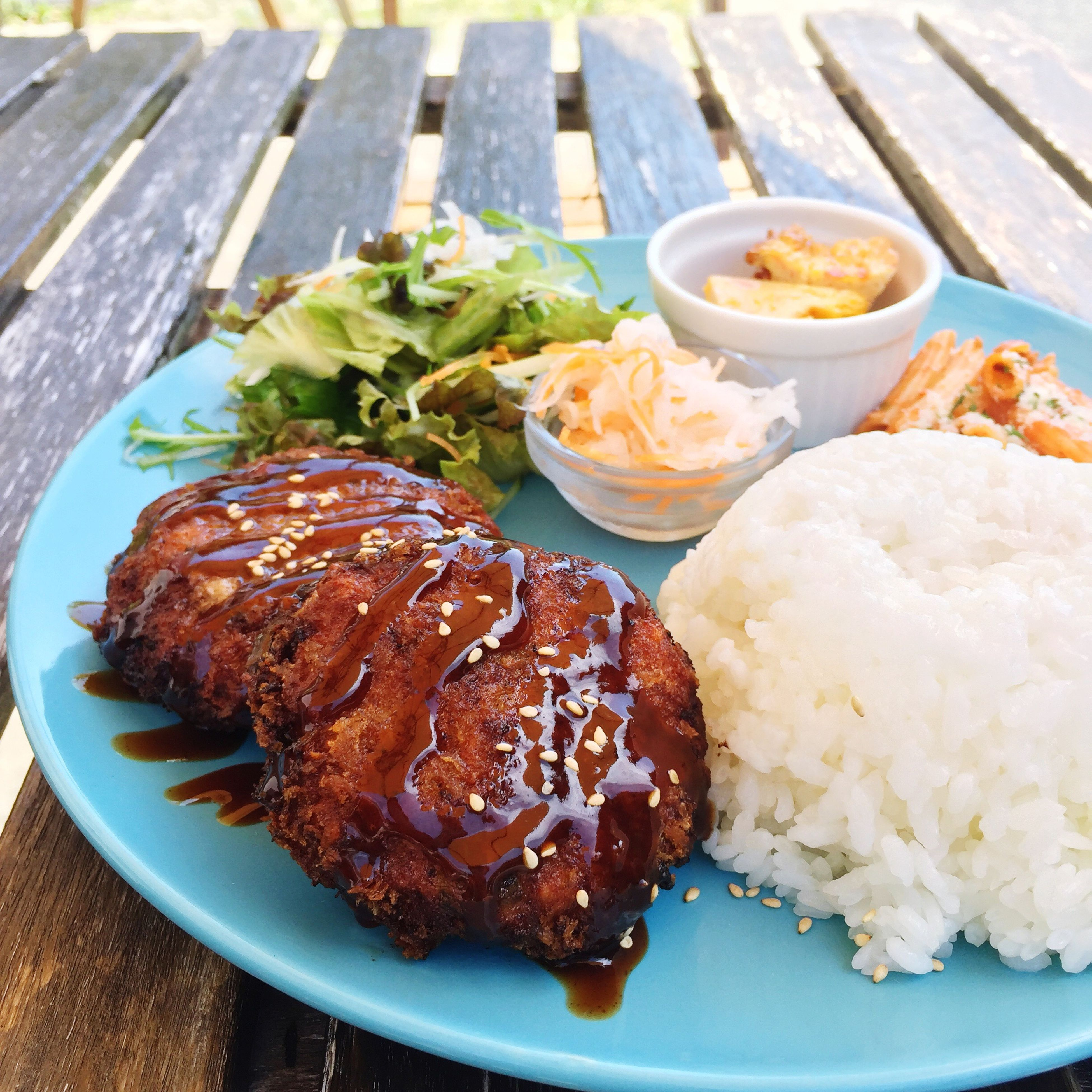 food, food and drink, plate, table, serving size, ready-to-eat, meat, freshness, rice - food staple, no people, healthy eating, close-up, indoors, day