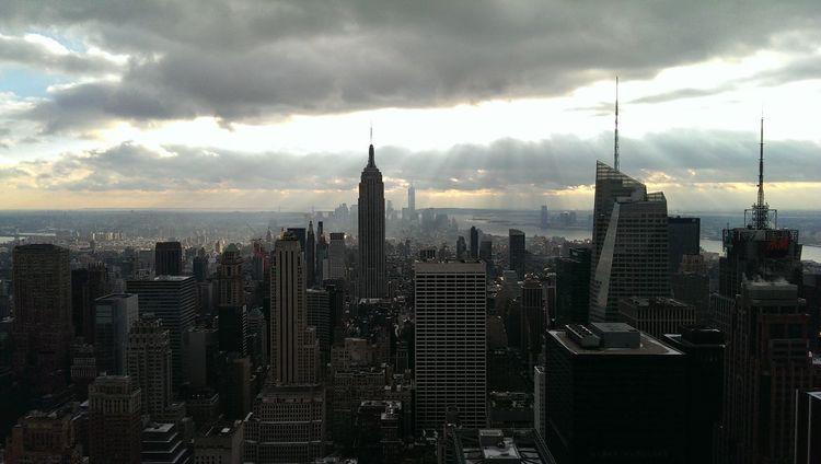 New York Skyline from Rockefeller Center New York Skyline No Filter Cityscape
