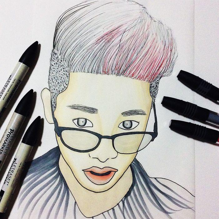 Art Artist Artistic Artstudent  Design Markers  Men Pantone Portrait Sketch Student