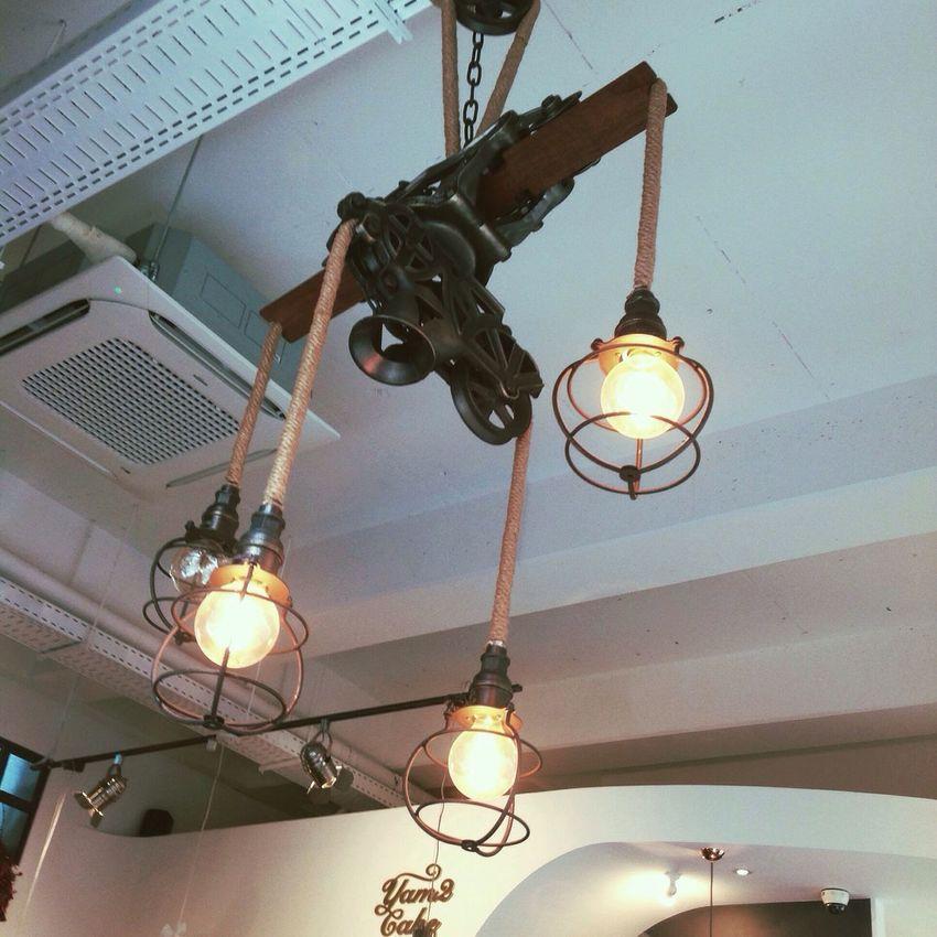 Low Angle View Lighting Equipment Illuminated Electricity  Cafe Pangyo Korea