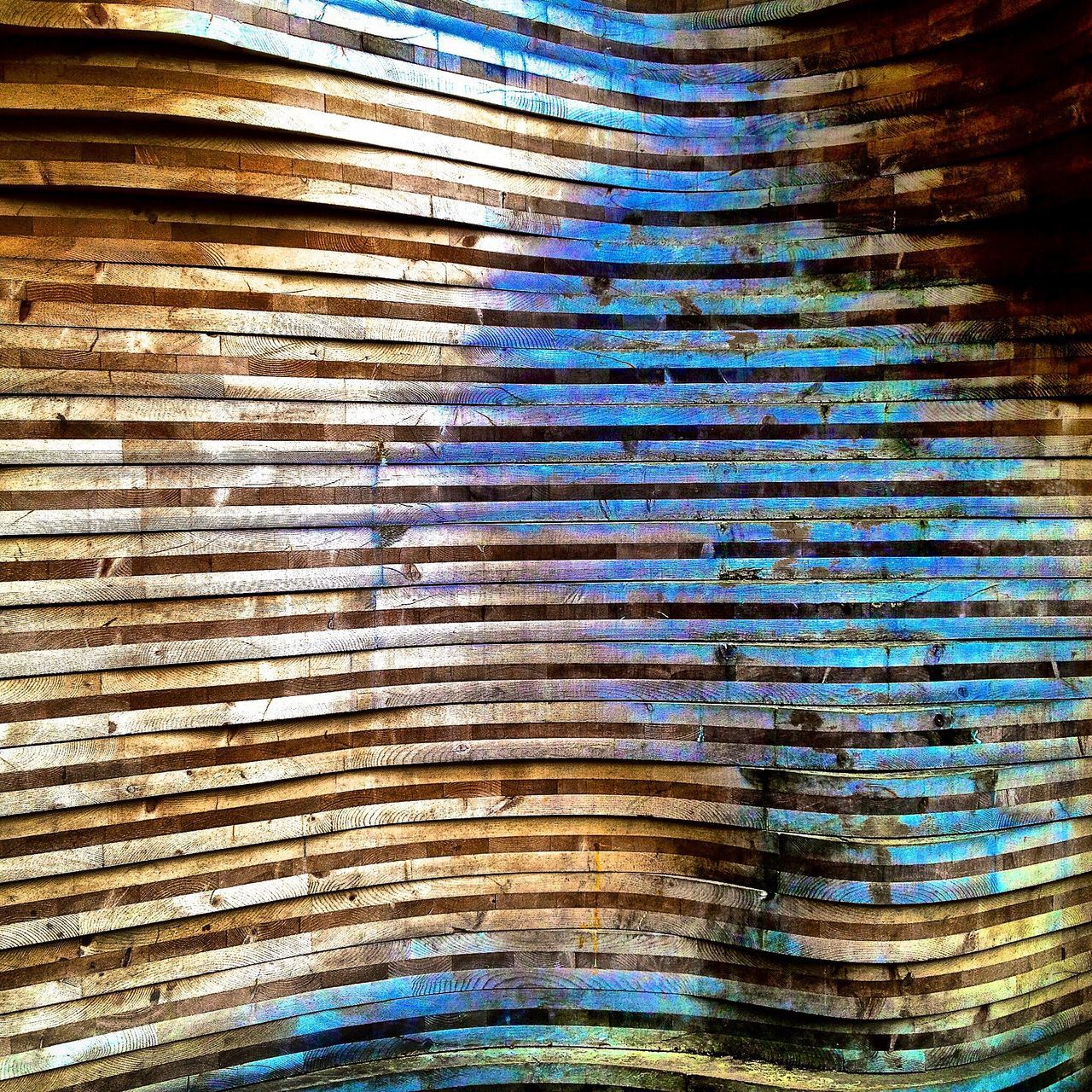Curves Blue Multiple Layers