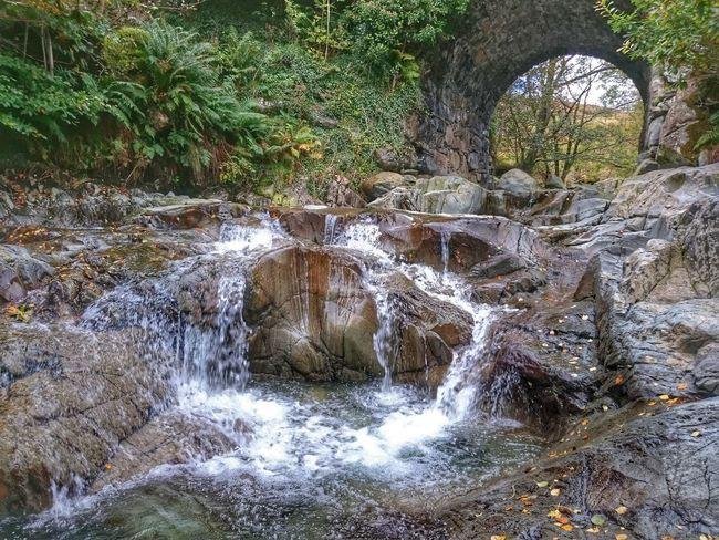 Water Nature Outdoors Beauty In Nature Waterfall Packhorse Bridge Flowing Stream EyeEm Nature Lover EyeEm Vision Walking Around Lake District Coniston Fells