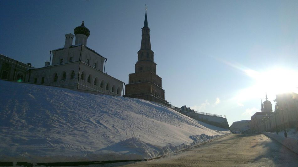 Snow Winter City No People Sky Cold Temperature Cityscape Thekremlin Kazan KazanKremlin Morning Sunrise Architecture Holiday