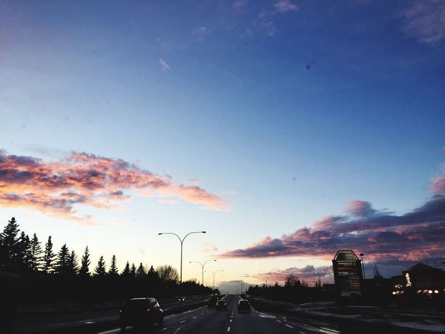 Sky Road Cloud - Sky Sunset Nature Scenics Outdoors Beauty In Nature Day City Tree