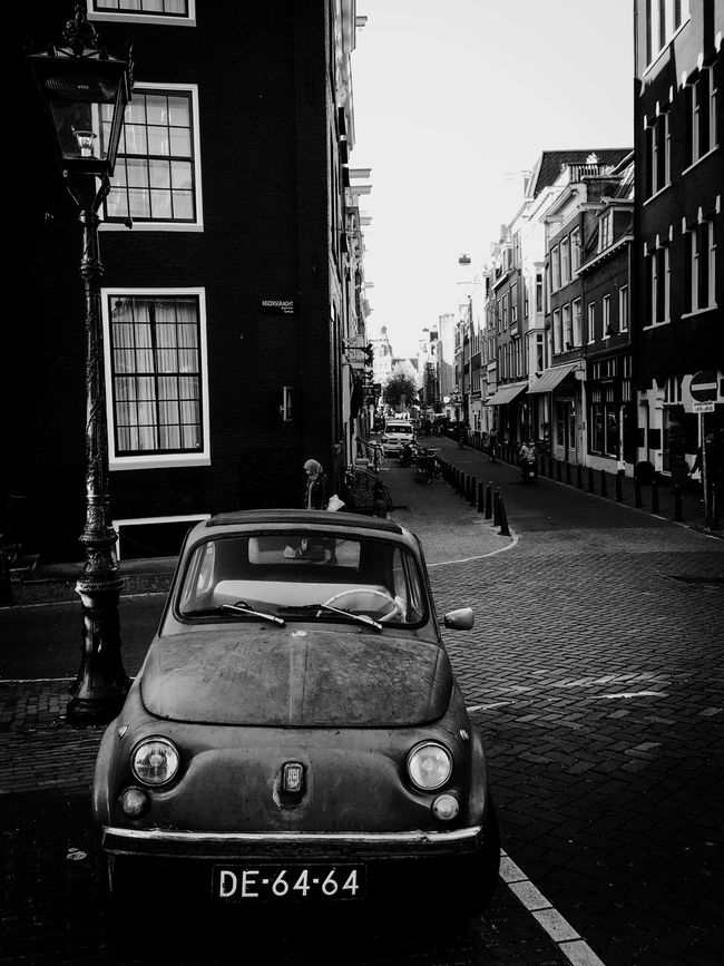 City Amsterdam City Street Car Mode Of Transport Street The Way Forward Built Structure Building Exterior Land Vehicle City Life Oldcars