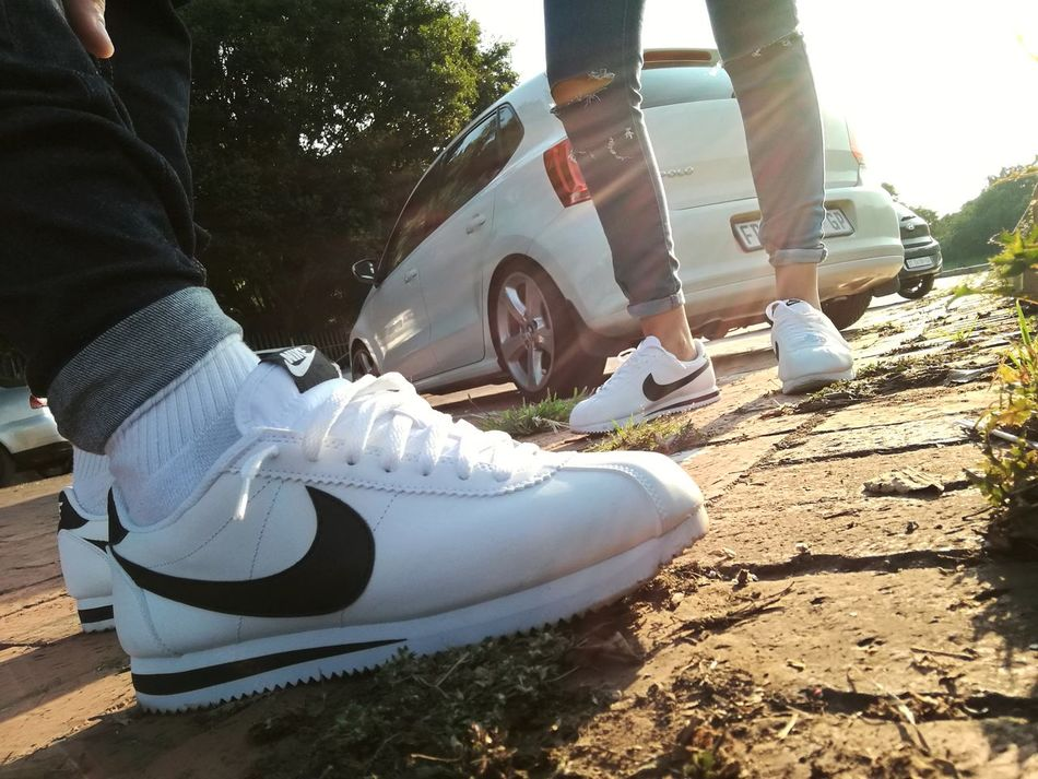 Casual. Sneakerhead  Sneakers Sneakerheads Cortez  Nike✔ Double Trouble Monochrome First Eyeem Photo