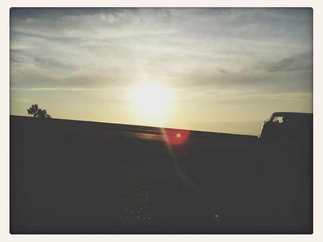 Sunset Volkswagen Kombi Clouds And Sky Enjoying The Sun