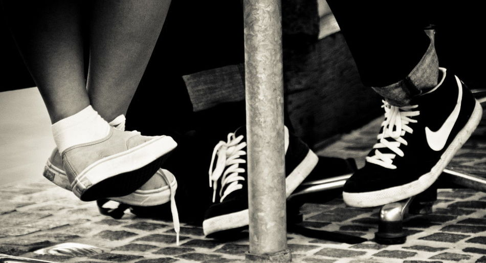 Comfortable Cropped Fashion Human Body Part Human Leg Nervous Pool Real People Shoe Shoe Shoe Laces
