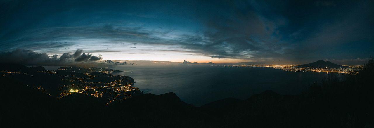 Amalfi Coast Italia Italy Napels Panorama Sea Sky Sunset Vesuvius