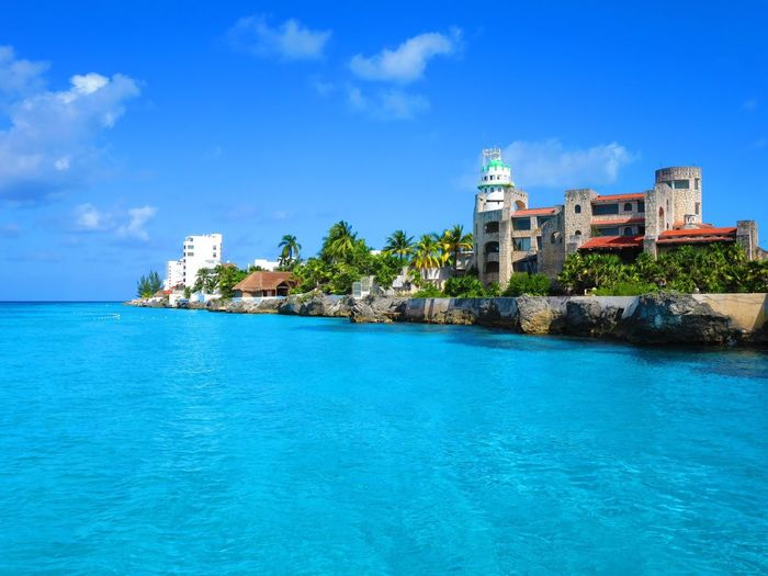 Blue Sky Sea Waterfront Cloud - Sky Travel Destinations Mexico Cozumelmexico Boattrip