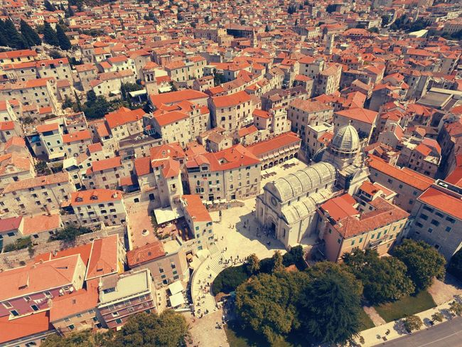 A Bird's Eye View Cityscape DGI Shibenik, Croatia