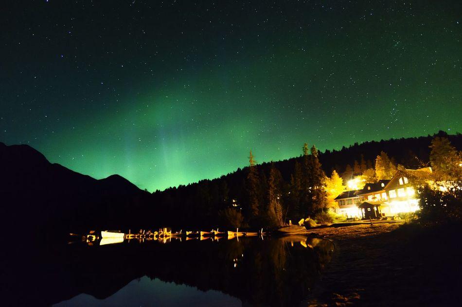 Aurora Aurora Borealis Jasper Jasper National Park Canada Northern Lights Rocky Mountains Alberta Nightscape Astrophotography Pyramid Lake