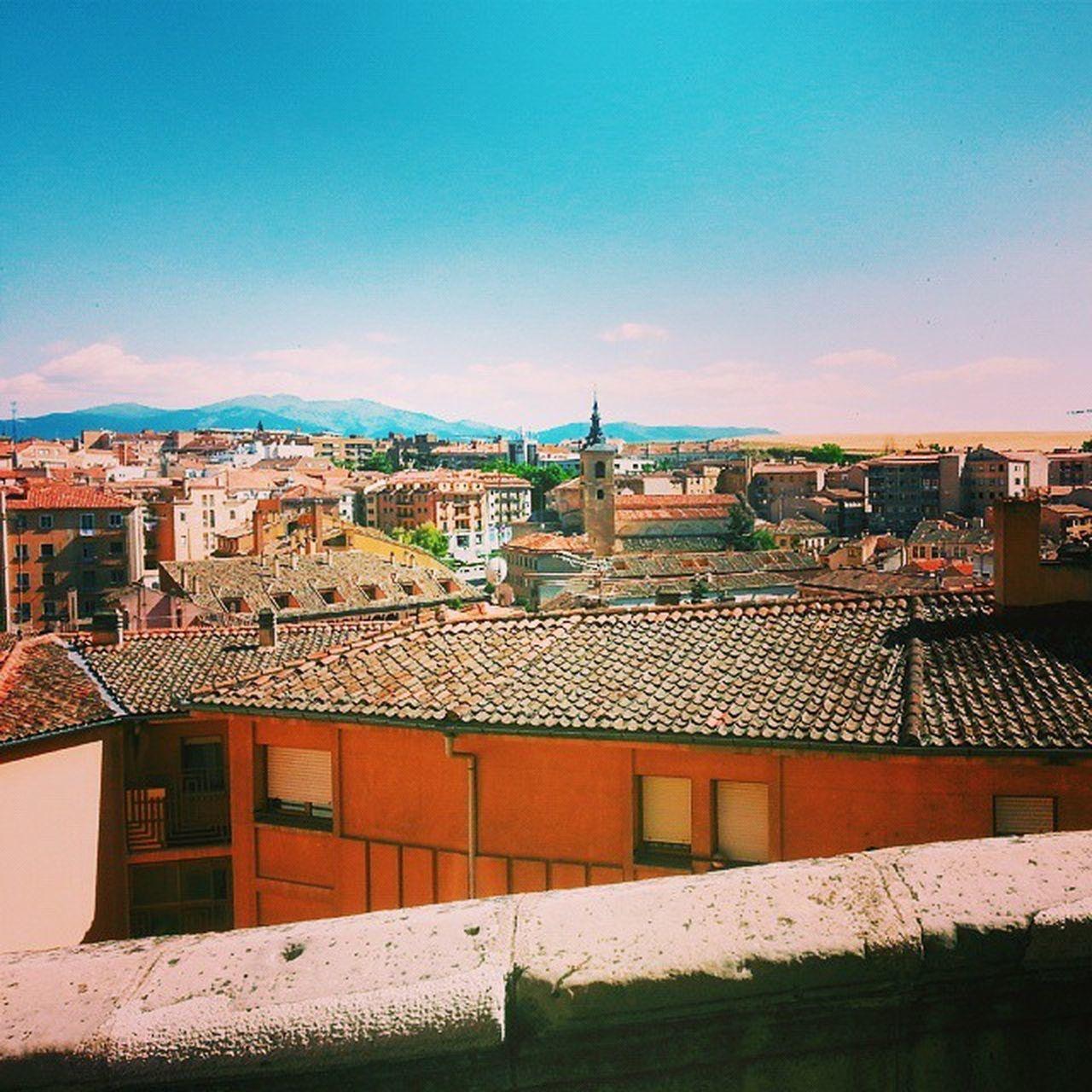 Welcome to Segovia Vscocam Vscospain Segovia Goingtoieu Iexp15 City SPAIN View Sky Houses Buildings Sun Travel Fun Segovia Hot Day Inspiration