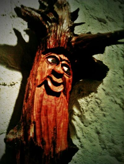 Wooden Face Wurzelsepp Carved Carved Wood Carving - Craft Product