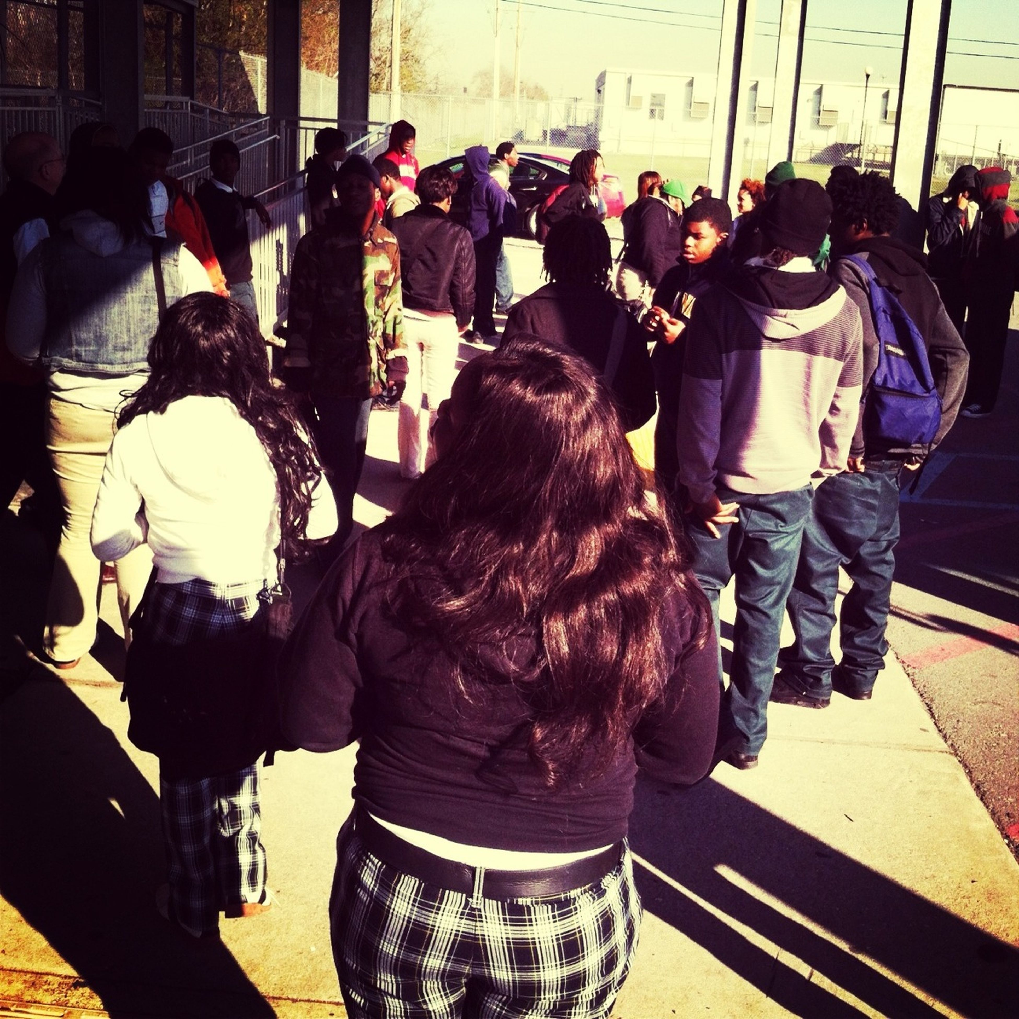 Today At School They Ant Want Late Us In!!