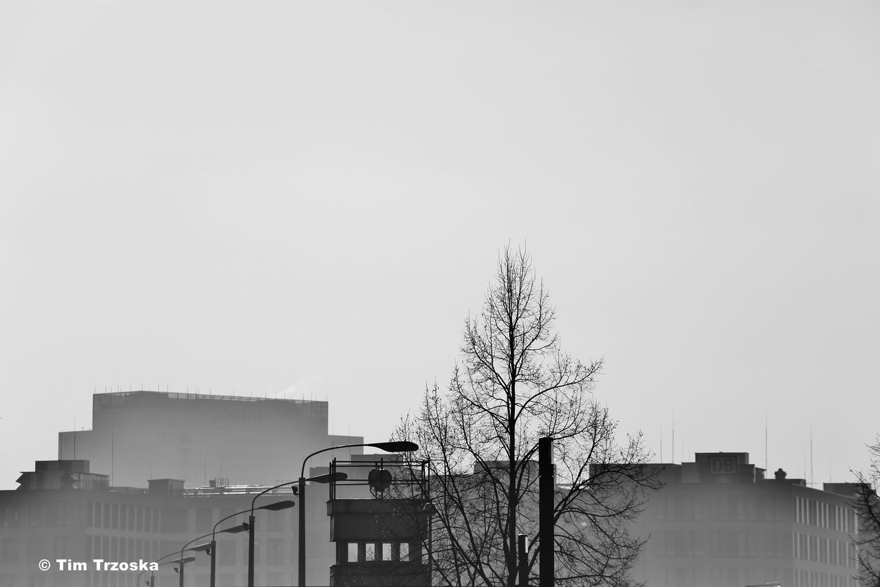 Architecture Bare Tree Berlin Berliner Mauer Borderline Building Exterior Built Structure City Clear Sky Day Grenze Mauer Mitte No People Outdoors S/w Sky Tree Trzoska Wachturm