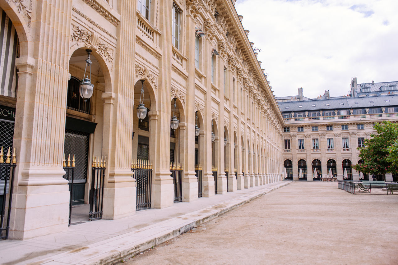 Architectural Column Architecture Building Exterior Built Structure Day France History No People Outdoors Palais Paris Royal Royal Palais Sky Travel Destinations