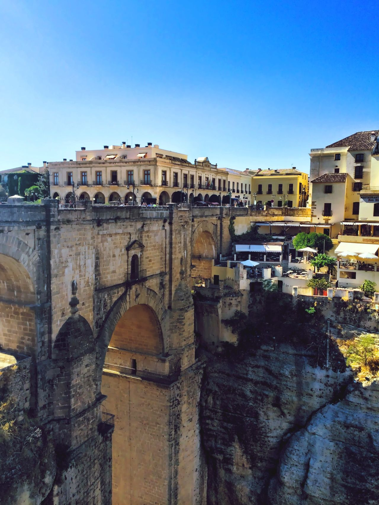 Ronda Spain Travel Destinations Clear Sky Architecture History Tourism Blue Day Tourist Arts Culture And Entertainment