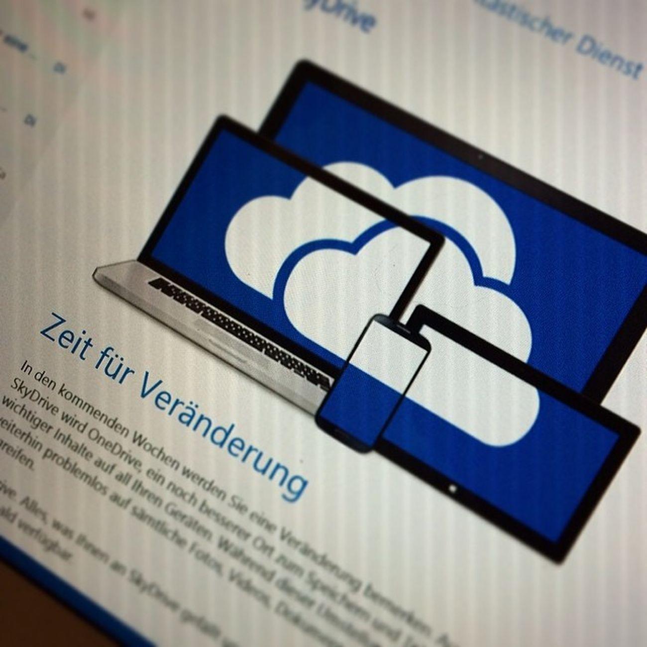 Veränderungen sind immer wieder gut #OneDrive #SkyDrive #Microsoft Microsoft Skydrive Onedrive