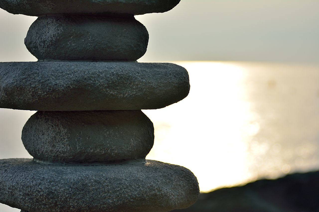 balance, stack, water, strength, close-up, stability, no people, rock - object, day, outdoors, beauty in nature, nature, sky