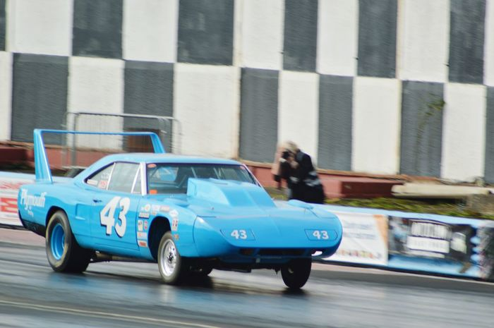 Eye4photography  Motorsport Happy Days At The Track Capturing Movement Plymouth Drag Racing Racetrack Burning Rubber Car Photography Classic Cars