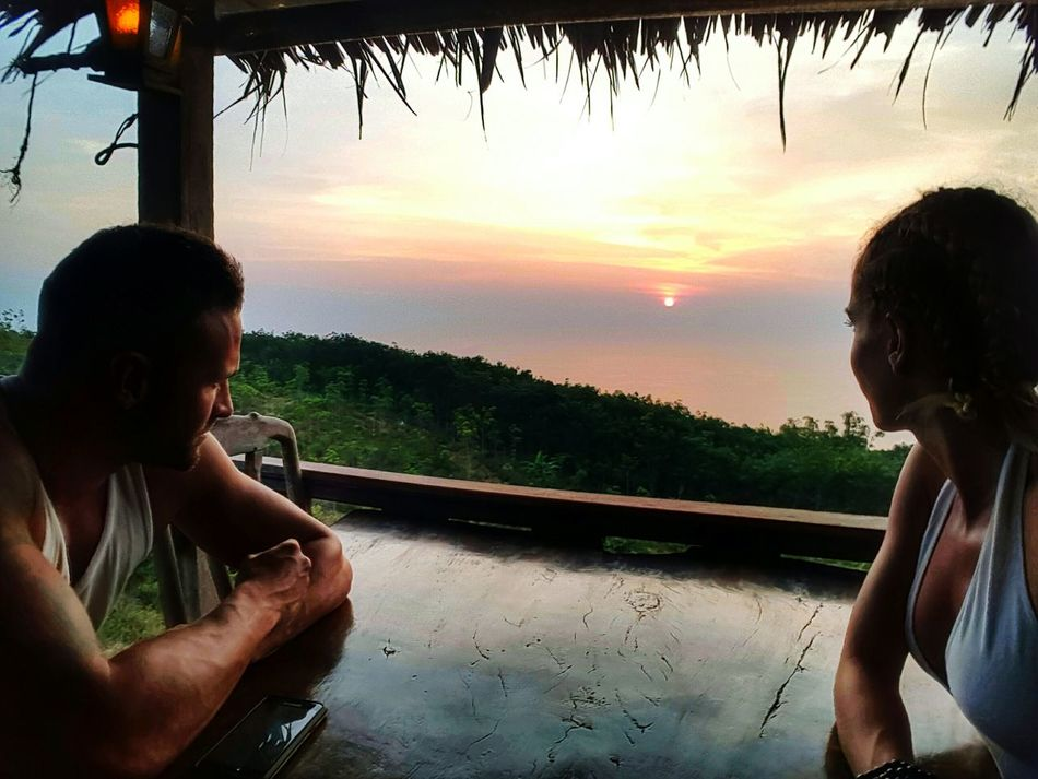 Reflection Sunset Sky Nature Day Beauty In Nature Thaïlande Beach Relaxation Two People People